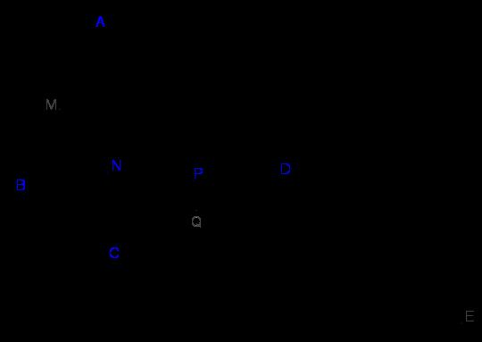 Cho khối tứ diện ABCD có thể toch V .Các điểm M,N,P lần lượt thuộc cạnhAB,AC,BD.png