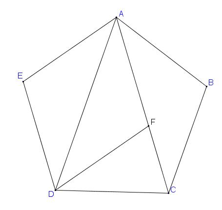 Tính cạnh của 1 ngũ giác đều có độ dài đường chéo bằng 2 đvđd.png