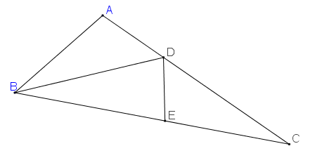 Cho ΔABC có A^=2B^=4C^.png