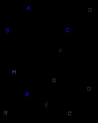 Cho hình hộp chữ nhật ABCD.A′B′C′D′ có các cạnh AB=2,AD=3,AA′=4. Góc giữa hai mặt phẳng (AB′D′) và (A′C′D) là α. Tìm số đo của α.png